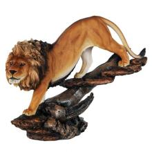 HAND PAINTED COLD CAST RESIN LION 15