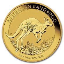 2017 Australia 1/4 oz Gold Kangaroo BU