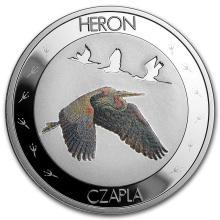 2015 Niue Silver Symbols of Nature Heron Proof
