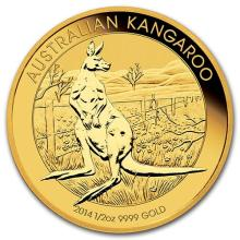 2014 Australia 1/2 oz Gold Kangaroo BU