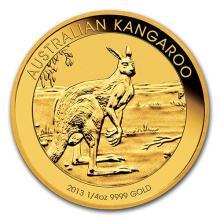 2013 Australia 1/4 oz Gold Kangaroo BU
