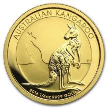 2016 Australia 1/4 oz Gold Kangaroo BU