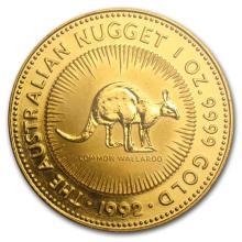 1992 Australia 1 oz Gold Nugget BU