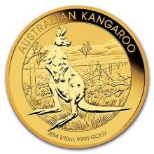 2014 Australia 1/10 oz Gold Kangaroo BU
