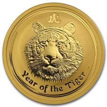 2010 Australia 1/2 oz Gold Lunar Tiger BU (Series II)