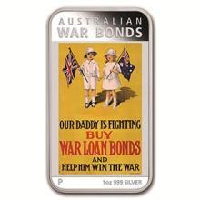2016 Australia 1 oz Silver Posters of WWI Proof (War Bonds)
