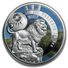 2016 Niue Silver SOS For The World They are Gone! (Barbary Lion)