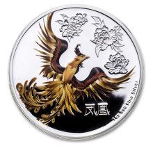 2015 Niue 1 oz Silver $2 Feng Shui Phoenix (w/Box & COA)