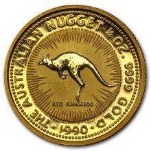 1990 Australia 1/4 oz Gold Nugget BU