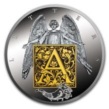 2017 Niue Silver Proof Alphabet Of Your Soul (Letter A)