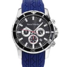 MARCEL DRUCKER Brand New Stainless Steel Chronograph Date Men Watch