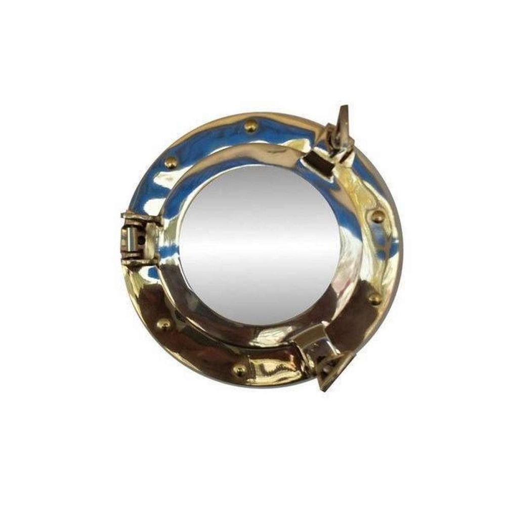 Brass Decorative Ship Porthole Mirror 8in.