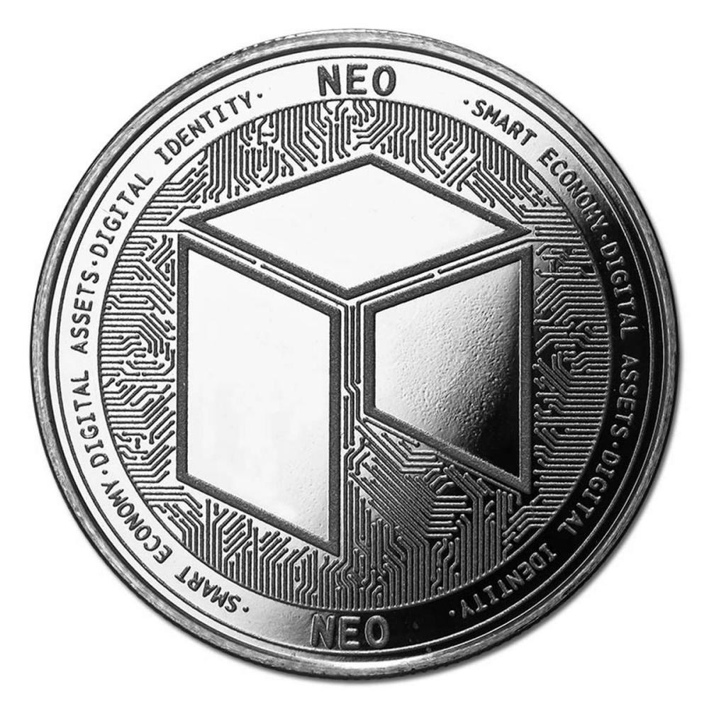 1 oz Silver Bullion Cryptocurrency NEO Round .999 fine