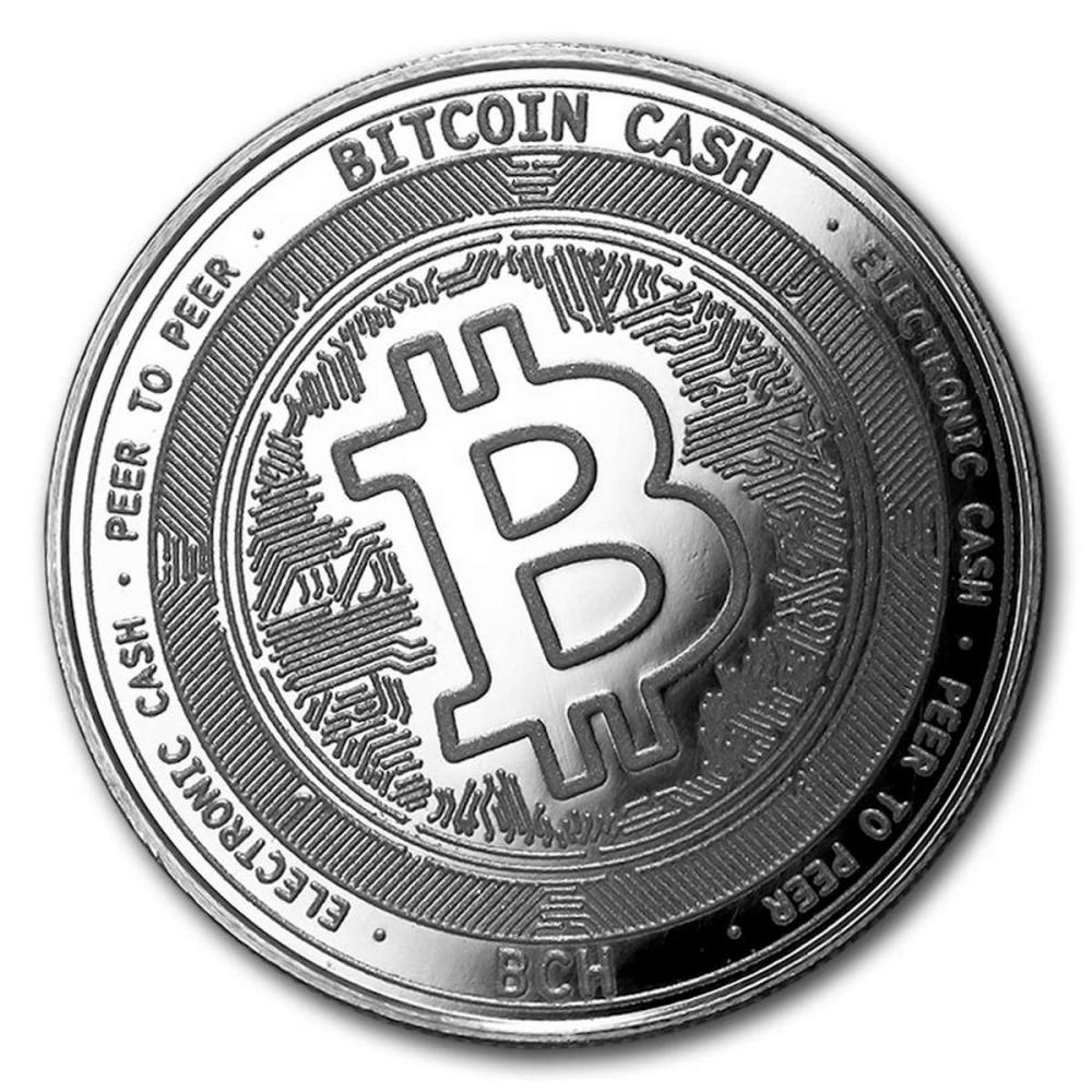1 oz Silver Bullion Cryptocurrency Bitcoin Cash Round .999 fine