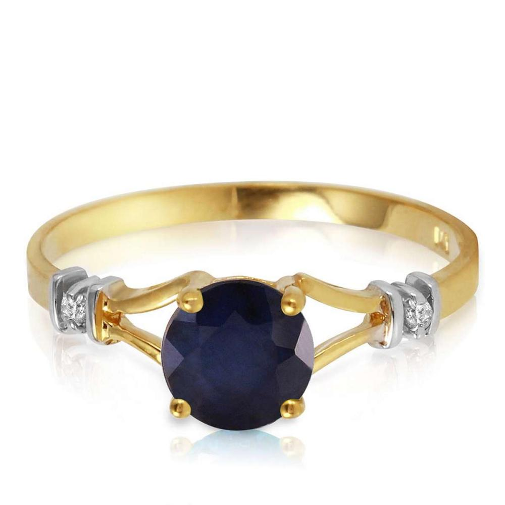 1.02 Carat 14K Solid Gold Purge Your Soul Sapphire Diamond Ring
