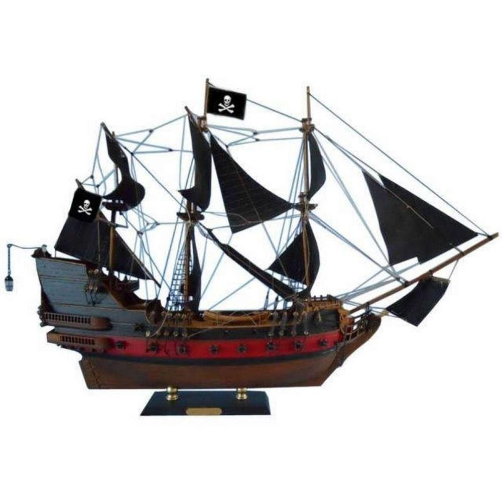 Black Pearl Pirates of the Caribbean Limited Model Ship 24in. - Black Sails