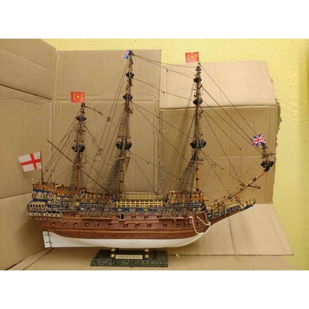 Wooden Sovereign of the Seas Limited Tall Model Ship 39in. - Without Sails