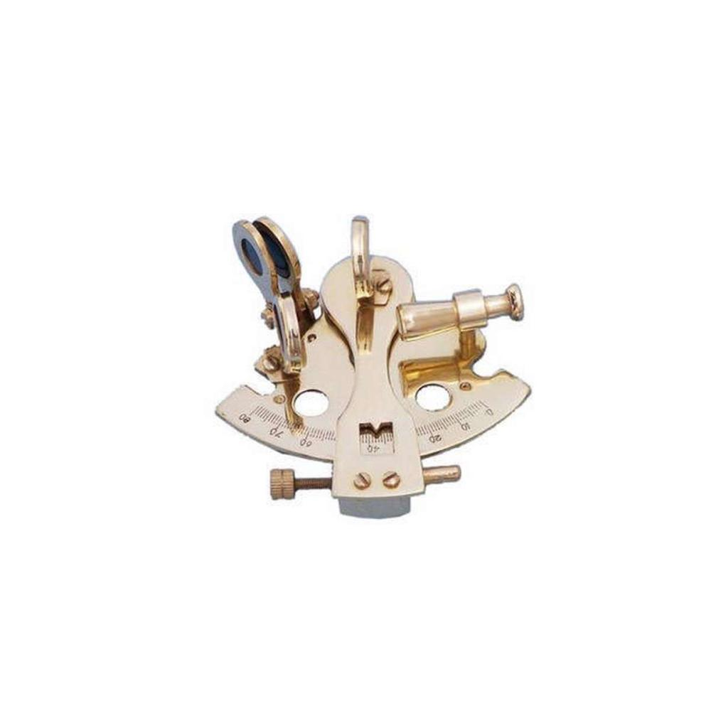 Brass Sextant Paperweight 3in.
