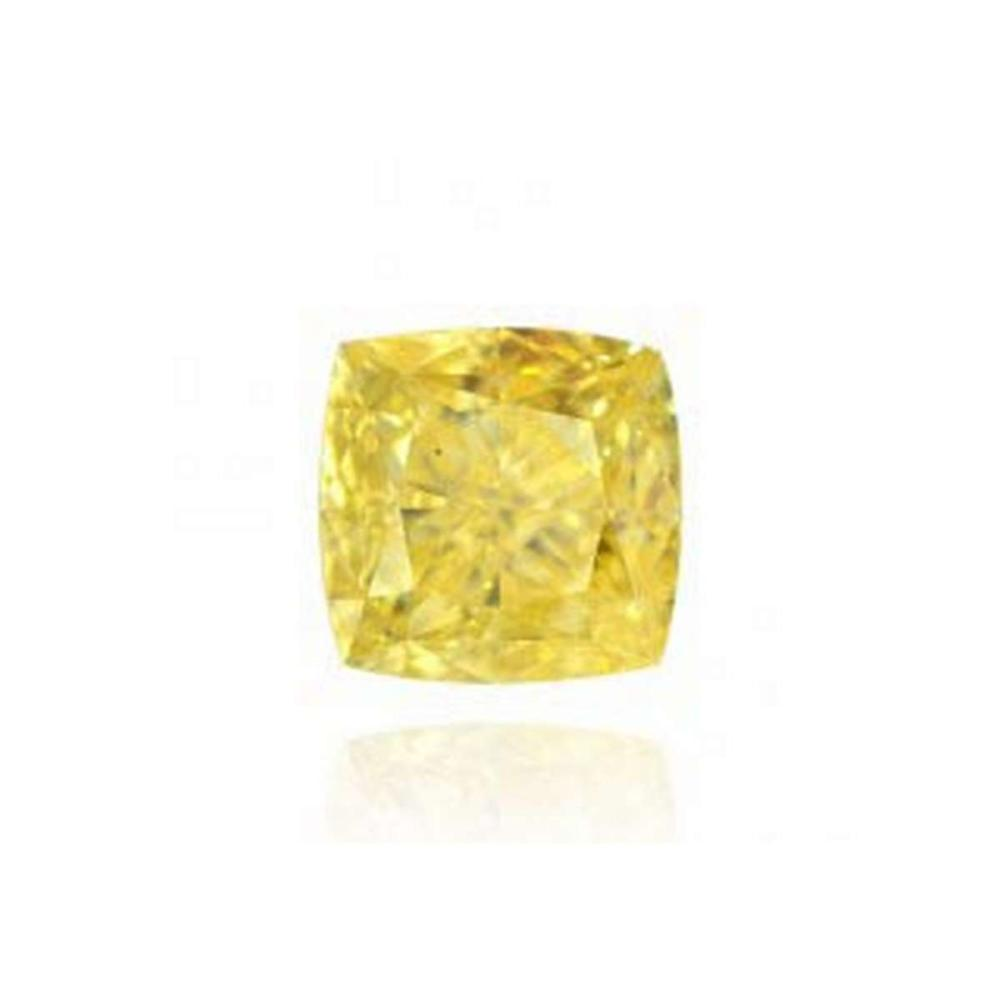 GIA Certified 0.53 CTW Radiant Fancy Yellow Diamond VS2