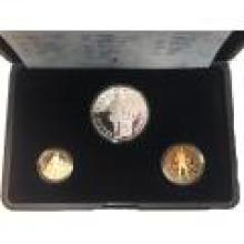 Netherlands 3 piece gold and silver ducat proof set 2000