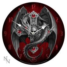 GOTHIC GUARDIAN WALL CLOCK 13 1/4