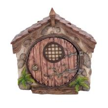 HAND PAINTED RESIN FAIRY DOME HOUSE 5 1/8