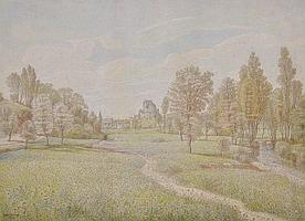 PETER BECKER (GERMAN, 1828-1904) A VIEW OF A