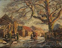 HERBERT F. ROYLE (1870-1958) END OF A WINTER'S DAY, YORKSHIRE