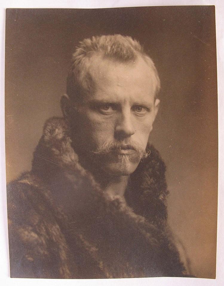 FRIDTJOF NANSEN (1893-96)  One portrait by Henry van der Weyde, silver print, circa 1895  18