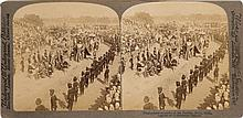 THIRTY FOUR STEREOPTICON PHOTOGRAPHS (19th century)  PRIMARILY OF INDIA