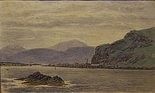 WILLIAM MOORE, JNR (1817-1909)  ARDCHONNEL CASTLE, LOCH AWE  signed