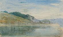 Albert Goodwin, RWS (1845-1932)  Lake Maggiore  signed with monogra