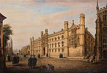 RICHARD BANKES HARRADEN (1778-1862)  VIEW OF KINGS PARADE, CAMBRIDGE, W