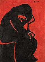• Jacob Kramer (1892-1962)  Seated woman  signed u.r.: Kramer