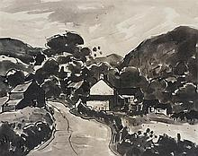 • Sir Kyffin Williams, R.A. (1918-2006)  Farm near Cyffylliog  sign