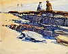 Harry Morley, ARA (1881-1943)   Figures on a beach, low tide  with, Harry Morley, £150
