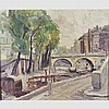 • RONALD OSSORY DUNLOP, R.A., R.B.A. (1894-1973)  THE SEINE, PARIS BY P, Ronald Ossory Dunlop, £200