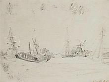 Henry William Burgess (c. 1792-1839)  Whitstable Harbour  inscribed