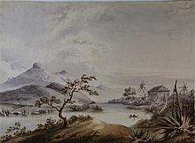 THE HOOD FAMILY (19TH CENTURY)  A FOLIO OF LANDSCAPE WATERCOLOURS