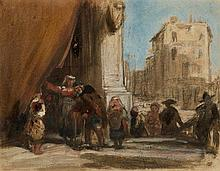 Attributed to James Holland, O.W.S. (1799-1870)  A venetian scene
