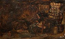 Alexander Fraser Jnr., R.S.A., R.S.W. (1828-1899)  By the fireside