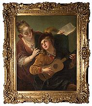 Follower of JEAN RAOUX (1644-1734)  THE CONCERT  oil on canvas
