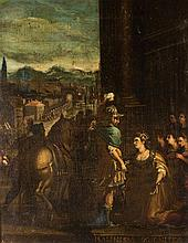 ITALIAN SCHOOL (17TH CENTURY)  A SCENE FROM THE LIFE OF MASSINISSA & SO