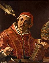 Manner of Mattia Preti (1613-1699)  Pope Saint Gregory I, called The Gr