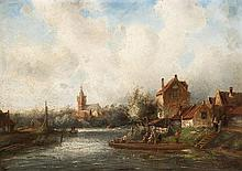 Charles Leickert (1816-1907)  Dutch river landscape   signed l.r.: