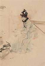 Ludek Alois Marold (1865-1898)  Anelegantwomanseatedbyastove  Signe