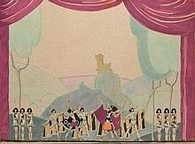 • Veronica Burleigh, S.W.A. (1909-1999)  Art Deco stage design  sig