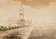 English school (early 19th century)  Witney parish church  watercol