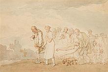 Thomas Rowlandson (1756-1827)  The Cortege  watercolour over pen an