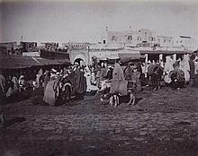 TANGIER  group of nineteen photographs attributed to Cavilla showing a
